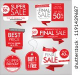 modern sale banners and labels  | Shutterstock .eps vector #1191439687