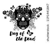 floral mexican sugar skull ... | Shutterstock .eps vector #1191441847