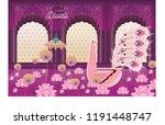 peacock deepavali diwali... | Shutterstock .eps vector #1191448747
