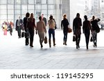employees going against the... | Shutterstock . vector #119145295