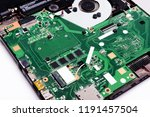 disassembled laptop on a white... | Shutterstock . vector #1191457504