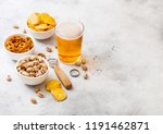 glass craft lager beer with... | Shutterstock . vector #1191462871