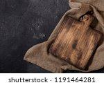 vintage wooden cutting board... | Shutterstock . vector #1191464281