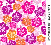 seamless pattern with hibiscus...
