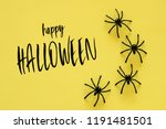halloween holiday concept.... | Shutterstock . vector #1191481501