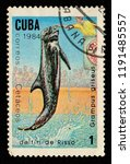 cuba   circa 1984  a stamp... | Shutterstock . vector #1191485557