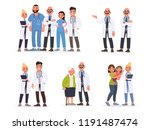 set of doctors. pediatrician... | Shutterstock .eps vector #1191487474