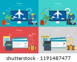 concept of online airline... | Shutterstock .eps vector #1191487477