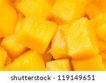 mango chunks full frame closeup   Shutterstock . vector #119149651