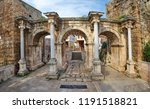 hadrians gate  antalya  turkey | Shutterstock . vector #1191518821