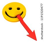 red symbolic arrow smile tongue ...   Shutterstock . vector #1191520477