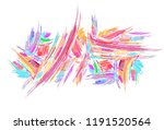 paint streaks rectangle long...   Shutterstock . vector #1191520564