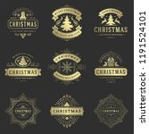 christmas labels and badges... | Shutterstock .eps vector #1191524101
