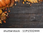 autumn composition with dry... | Shutterstock . vector #1191532444