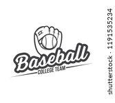 vector illustration of baseball ... | Shutterstock .eps vector #1191535234