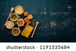 a set of honey and bee products....   Shutterstock . vector #1191535684