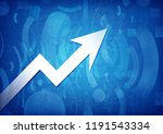 business graph icon isolated on ...   Shutterstock . vector #1191543334