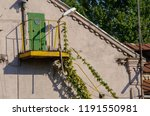 fire escape staircase on... | Shutterstock . vector #1191550981