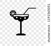 margarita vector icon isolated... | Shutterstock .eps vector #1191565051