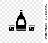 rum vector icon isolated on... | Shutterstock .eps vector #1191565057