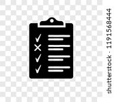 clipboard vector icon isolated... | Shutterstock .eps vector #1191568444