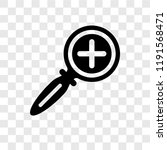 zoom in vector icon isolated on ... | Shutterstock .eps vector #1191568471