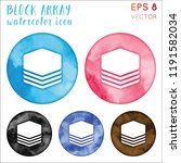 block array watercolor symbol.... | Shutterstock .eps vector #1191582034