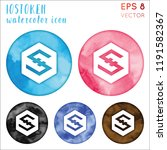 iostoken watercolor symbol.... | Shutterstock .eps vector #1191582367