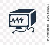 ekg monitor vector icon...   Shutterstock .eps vector #1191585037
