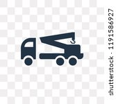 tow truck vector icon isolated... | Shutterstock .eps vector #1191586927