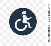 handicap vector icon isolated... | Shutterstock .eps vector #1191587044