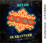 vintage background | Shutterstock .eps vector #119158804