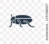 beetle vector icon isolated on... | Shutterstock .eps vector #1191588427