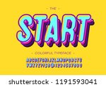 vector start alphabet modern... | Shutterstock .eps vector #1191593041
