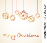 merry christmas card with red... | Shutterstock .eps vector #119159569