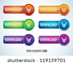 color web page download buttons ... | Shutterstock .eps vector #119159701