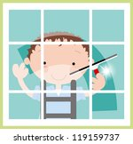 fun window cleaner | Shutterstock .eps vector #119159737