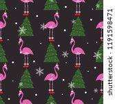 hand drawn christmas pattern...   Shutterstock .eps vector #1191598471