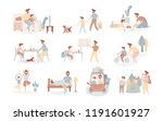 single european father and son... | Shutterstock .eps vector #1191601927