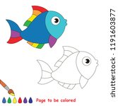 rainbow fish animal to be...   Shutterstock .eps vector #1191603877