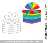 drawing worksheet for preschool ... | Shutterstock .eps vector #1191610294