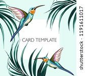 floral elegant invite card... | Shutterstock .eps vector #1191611017