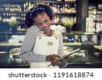 smiling young african... | Shutterstock . vector #1191618874
