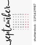 desk calendar 2019 design. page ... | Shutterstock .eps vector #1191619987