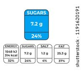 labels with calories and... | Shutterstock .eps vector #1191620191