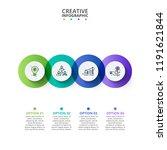 business data visualization.... | Shutterstock .eps vector #1191621844