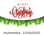 holiday gift card with hand... | Shutterstock .eps vector #1191622051