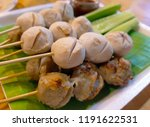 thai grilled meatballs. many... | Shutterstock . vector #1191622531