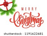 holiday card with hand... | Shutterstock .eps vector #1191622681