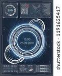futuristic user interface hud.... | Shutterstock .eps vector #1191625417